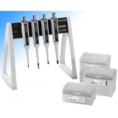 Набор 4-х механических дозаторов Tacta 2-20 мкл, 10-100 мкл, 20-200 мкл, 100–1000 мкл, 500-5000 мкл, наконечники Optifit , линейная сто (Кат. № LH-729675)