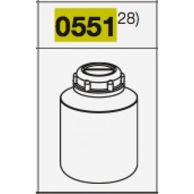 Пробирка 600 мл 93х134 мм, полипропилен с резьбой (Кат № 0551)