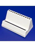 Штатив для дозаторов Ленпипет, 1 место, белый, для многоканальных пипеток (Кат. № 9420030)