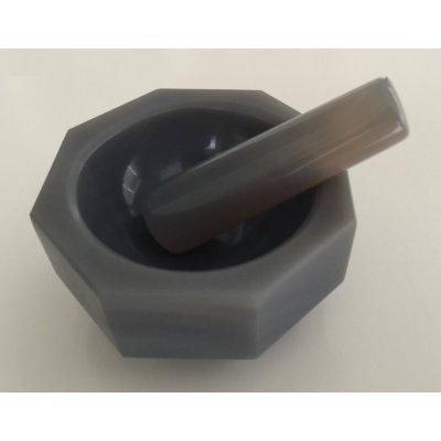 Агатовая ступка с пестиком, 13 мл, диаметр внутр/внешний 50/60 мм