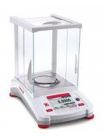 Аналитические весы OHAUS AX224 (220 г, 0,0001 г, I класс, внешняя калибровка, платформа Ø90 мм) ( Кат № 30111662)