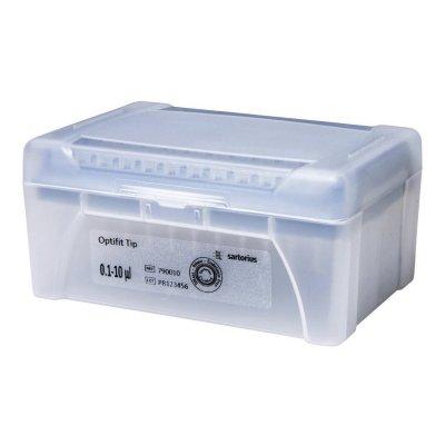 Наконечники Biohit, 10 мкл, (0,1-10 мкл), Optifit, длина 31,5 мм, штативы в пласт. коробках, 96x10 шт. (Кат. № 790010)