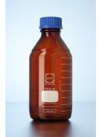 Бутыль стеклянная мерная темная, 1000 мл., с винтовой крышкой, с градуировкой, GL 45, SCHOTT DURAN (Кат № 2180654)