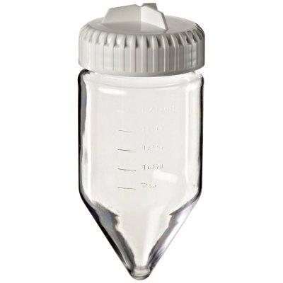 Бутыль для центрифугирования, 175 мл (27500g, поликарбонат, коническая, градуиров., с винт. кр., 61,4×144,3 мм), 36 шт./уп., Nalgene (Кат № 3144-0175)