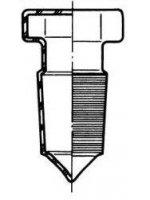 Гексагональная пробка, плоская, NS 14,5/23, 100 шт/уп (Кат. 286115406)