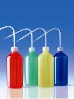 Промывалка цветная, 500 мл, синяя, пластиковая PE-LD (132708) (Vitlab)