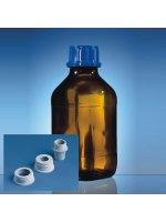 Бутылка для диспенсеров из коричневого стекла, 500 мл, GL 28, квадратная, с винтовой крышкой, Vitlab (Кат № 1671520)