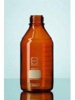Бутыль стеклянная мерная темная, 1000 мл, без крышки, c градуировкой, Schott Duran (Кат № 218065404)