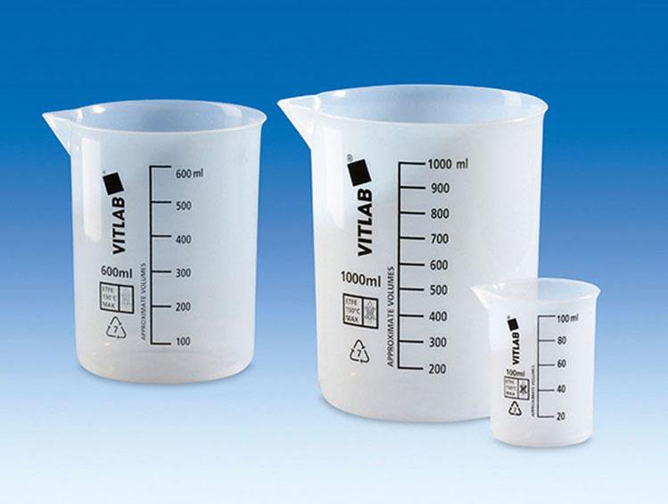 лабораторные стаканы мерные из пластика